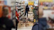 Caught on cam: Irish man smashes dozens of liquor bottles 4