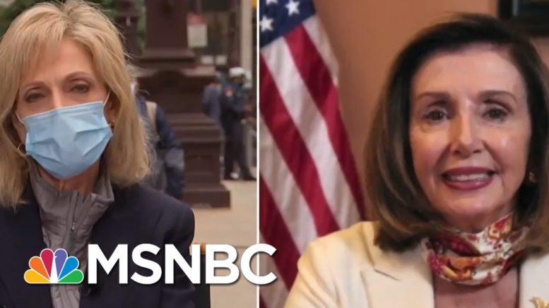 Pelosi Is 'Optimistic' About Reaching Agreement On Coronavirus Relief | Andrea Mitchell | MSNBC 1