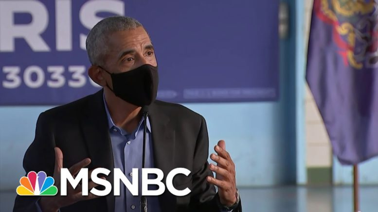 Obama Encourages Voting While Campaigning For Biden | MSNBC 1