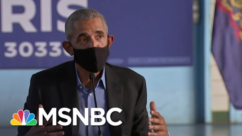 'You Want Him In Your Corner': Obama Holds First Event Back On The Campaign Trail | Deadline | MSNBC 1