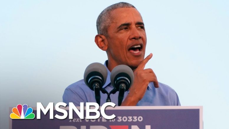 Obama Says He 'Literally' Left A 'Pandemic Playbook' For Trump That He Didn't Follow | MSNBC 1