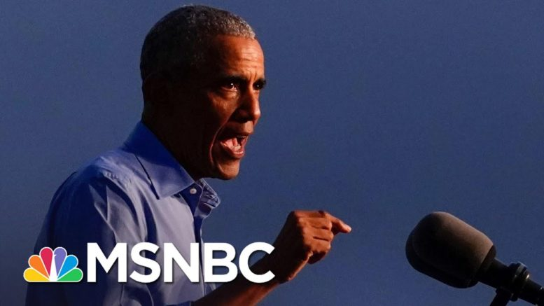 Obama Slams Trump For Alleged Secret Chinese Bank Account | MSNBC 1