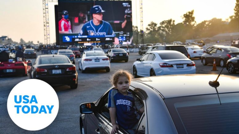 Dodgers Stadium hosting drive-in World Series | USA TODAY 1