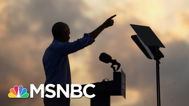 Obama Stumps For Biden As Trump Ignores Covid Risk At Huge Rally | The 11th Hour | MSNBC 1