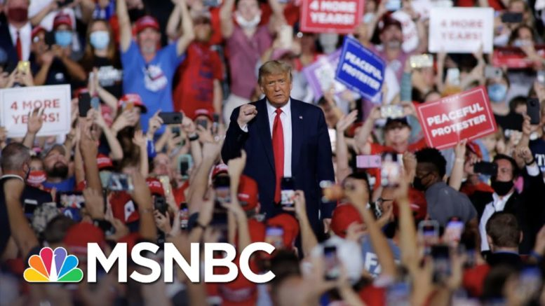 Trump's Rallies Keep Growing As The Pandemic Gets Worse | The 11th Hour | MSNBC 1