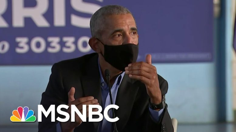 Obama Urges Black Voters To Cast Ballots In Record Numbers | The Last Word | MSNBC 1