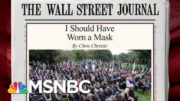 'I Should Have Worn A Mask,' Chris Christie Writes In Op-ed | Morning Joe | MSNBC 3