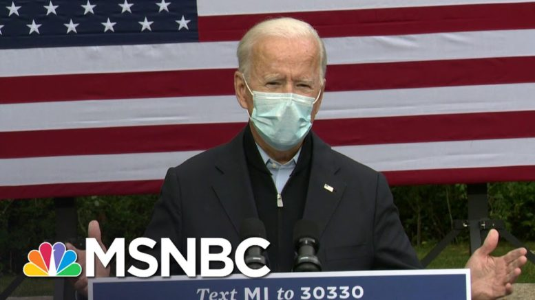 Joe Biden On Masks: 'Not About Being A Tough Guy,' They Protect Everyone | MSNBC 1