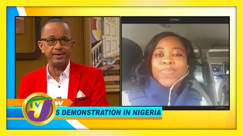 Ajoke Ulohotse Discussing SARS Demonstration in Nigeria - October 21 2020 1