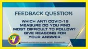 TVJ News: Feedback Question - October 21 2020 5