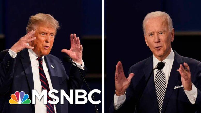 Trump And Biden Spar Over Health Care At Debate | Morning Joe | MSNBC 1