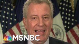 De Blasio Pushes Back Against Trump, Says NYC Is 'Fighting Back' | Morning Joe | MSNBC 2
