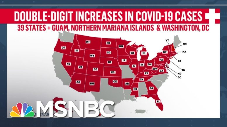 Fact-Checking Trump's Claim That U.S. Is 'Rounding The Corner' On COVID-19 | Andrea Mitchell | MSNBC 1