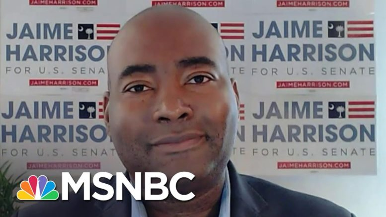 Jamie Harrison: 'This Is About Showing Who We Are, And Not Just Talking About It'   Katy Tur   MSNBC 1