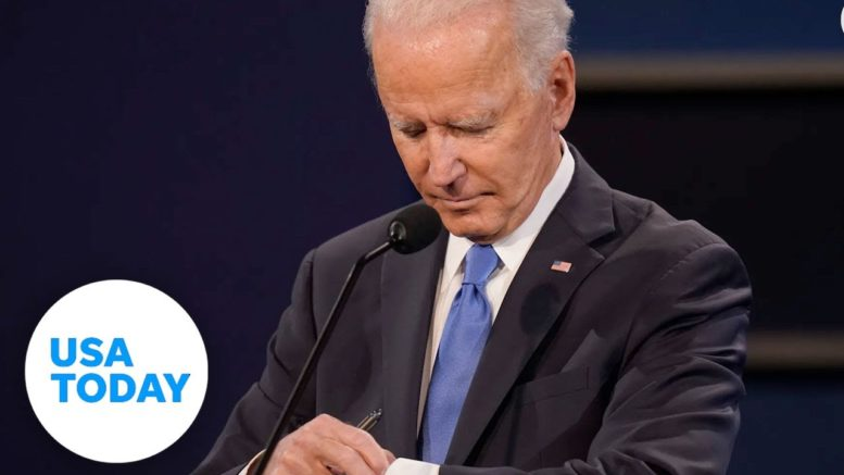 Joe Biden checks his watch during final presidential debate | USA TODAY 1