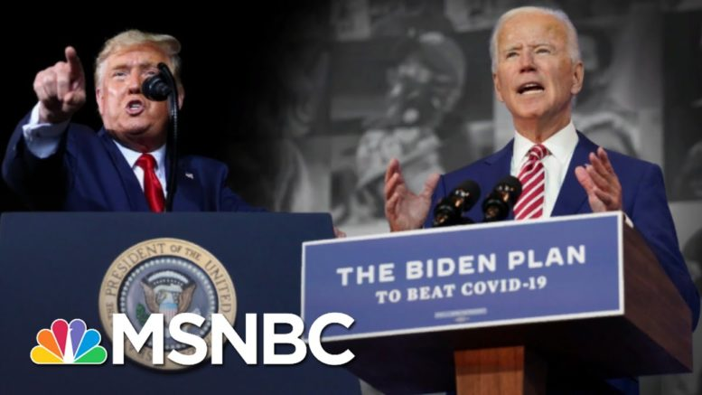 Biden Reveals Covid Plan As Trump Mocks Masks, Holds Rallies | The 11th Hour | MSNBC 1