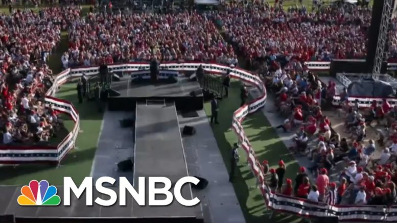 Some Sites Of Irresponsible Trump Rallies See Subsequent Covid Spike | Rachel Maddow | MSNBC 1