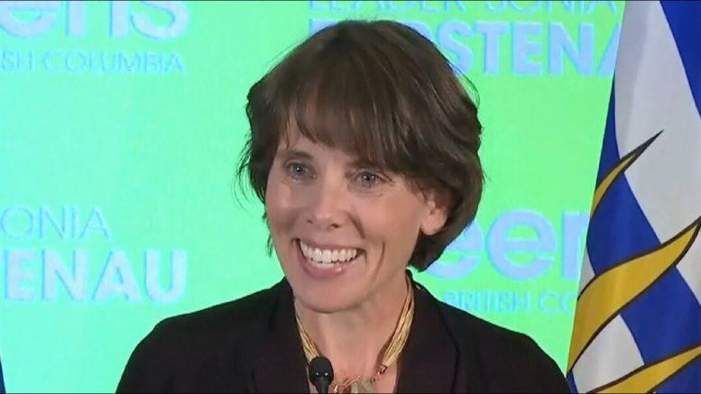B.C. Green Leader Sonia Furstenau thanks supporters in speech 1