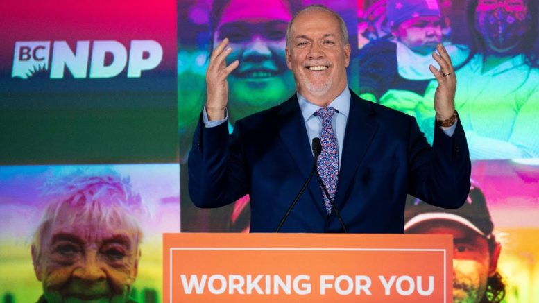 """B.C. has voted"": Watch B.C. NDP Leader John Horgan's victory speech 1"