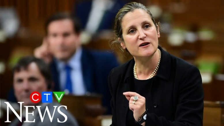 Freeland criticizes O'Toole's China comments: 'Either ignorance or partisan insinuation' 1
