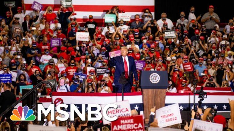 Trump Held Weekend Rallies, Said US Was Rounding Corner | Morning Joe | MSNBC 1