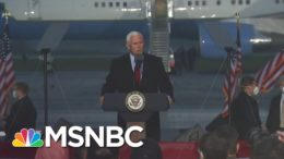 Pence On Campaign Trail Despite COVID Positive Staff As Cases Surge Across Country | Andrea Mitchell 3