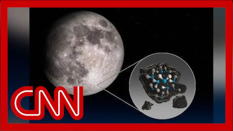 NASA mission finds water on the sunlit surface of the moon 1