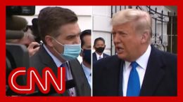 'Shouldn't voters judge you on the pandemic? Did you blow it?'  Watch Trump respond to Jim Acosta 2