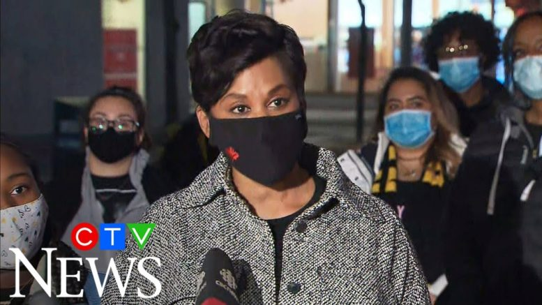 Liberal MP-elect Marci Ien speaks after winning Toronto Centre byelection 1