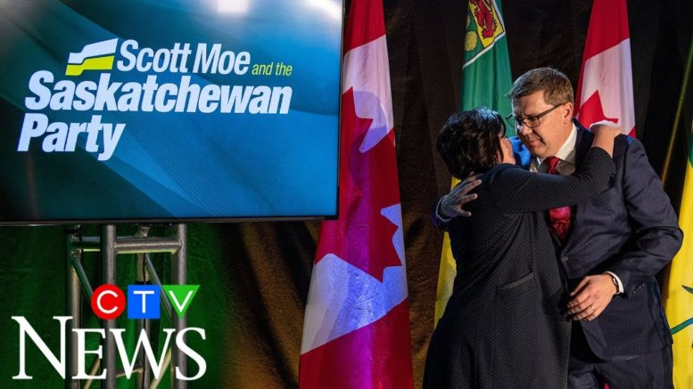 Watch Saskatchewan Premier Scott Moe's victory speech 1