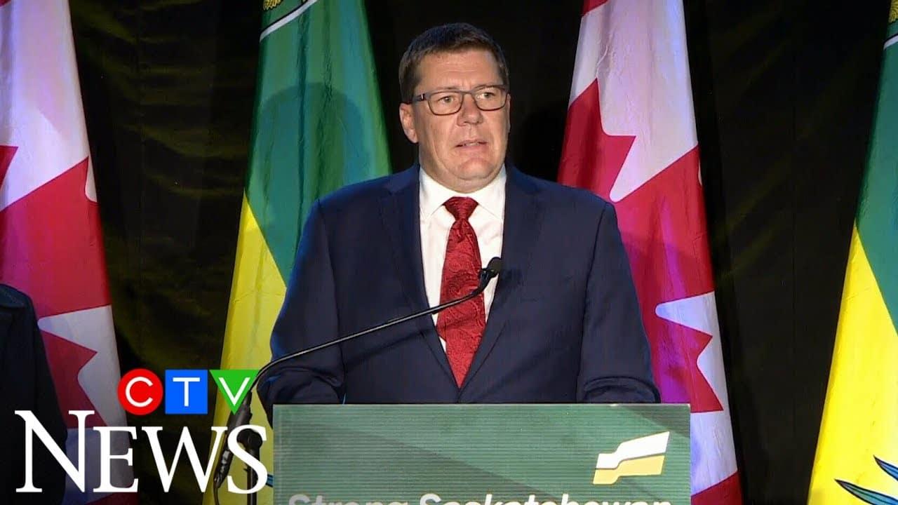 Watch Scott Moe's speech after winning Saskatchewan Party majority 7