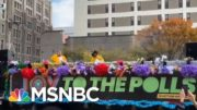 'Joy To The Polls' Brightens Dreary Voting Lines With Music, Dance | Rachel Maddow | MSNBC 4