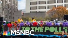 'Joy To The Polls' Brightens Dreary Voting Lines With Music, Dance   Rachel Maddow   MSNBC 3