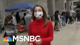 Early Voters Motivated As They Wait In Line In Philadelphia | Stephanie Ruhle | MSNBC 4