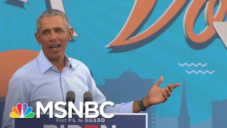 Obama Slams Trump's Coronavirus Response While Campaigning For Biden | MSNBC 1