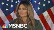 Melania Trump Attacks Media, Democrats While Campaigning In Pennsylvania | Ayman Mohyeldin | MSNBC 4