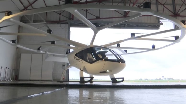 Futuristic urban flying taxi unveiled in France 1