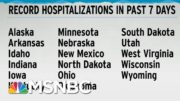 Record Hospitalizations In 17 States In Just The Past Week: WaPo   Rachel Maddow   MSNBC 3