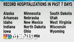 Record Hospitalizations In 17 States In Just The Past Week: WaPo | Rachel Maddow | MSNBC 1