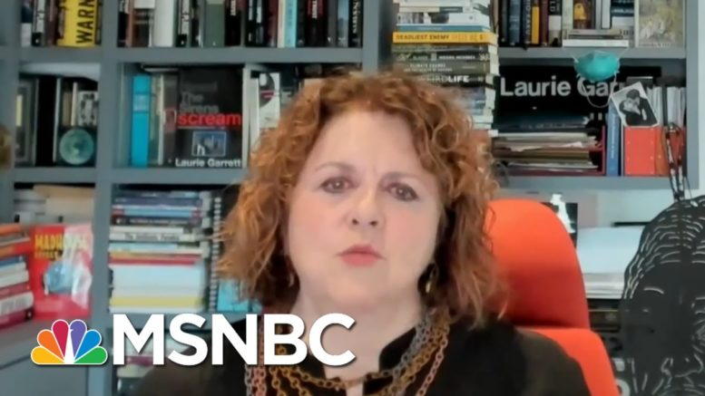 Laurie Garrett: The Amount Of Virus In The U.S. Is So Large | Deadline | MSNBC 1