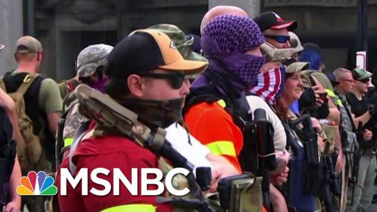 Armed U.S. 'Militia' Groups Increase Their Visibility | Morning Joe | MSNBC 1