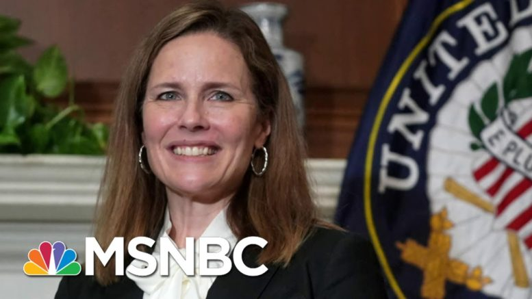Justice Barrett Recuses Herself From Pennsylvania Voting Case | MSNBC 1