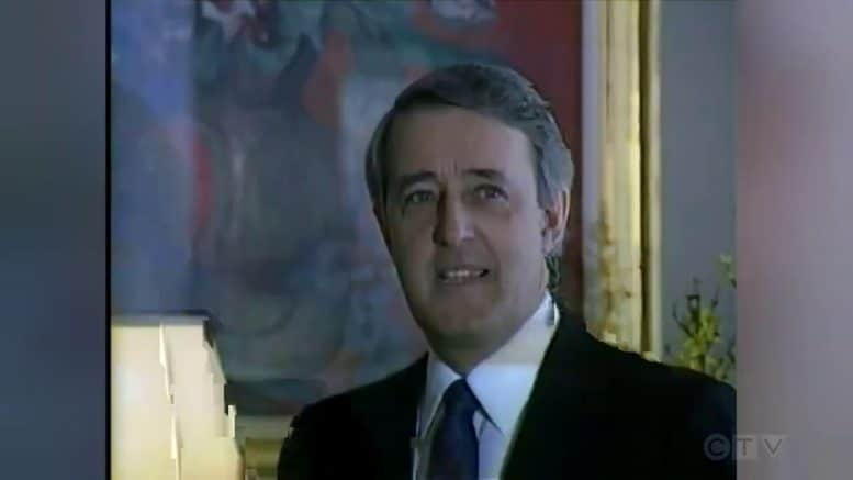 1988: Prime Minister Brian Mulroney meets with Swedish King Carl Gustaf 1