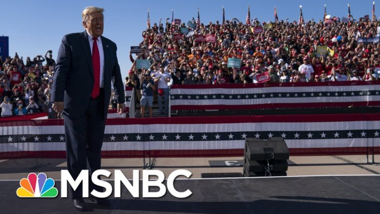 Trump Sowing Seeds Of Upset With Misinformation About Election Night Vote Counting | Rachel Maddow 1