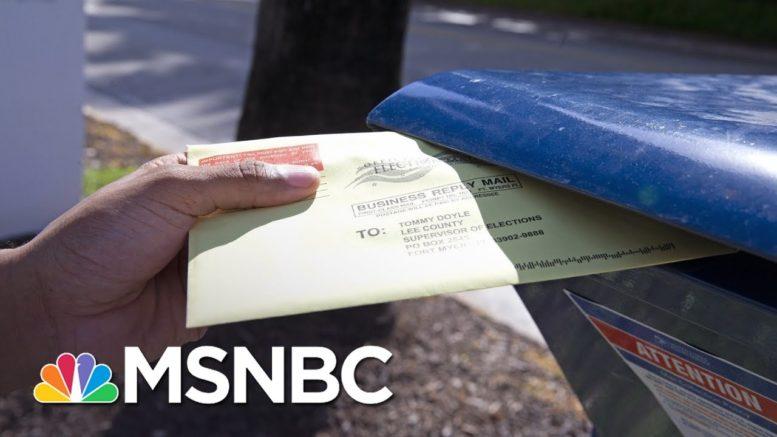 Experts Warn Too Late To Trust Your Ballot To Mail; Drop Off Or Vote In Person | Rachel Maddow 1