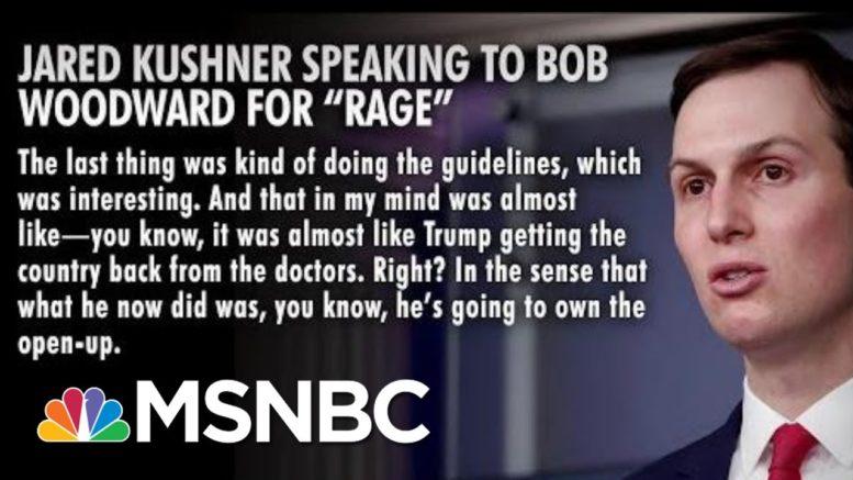 Jared Kushner Said Trump Took Back U.S. From Doctors | Morning Joe | MSNBC 1