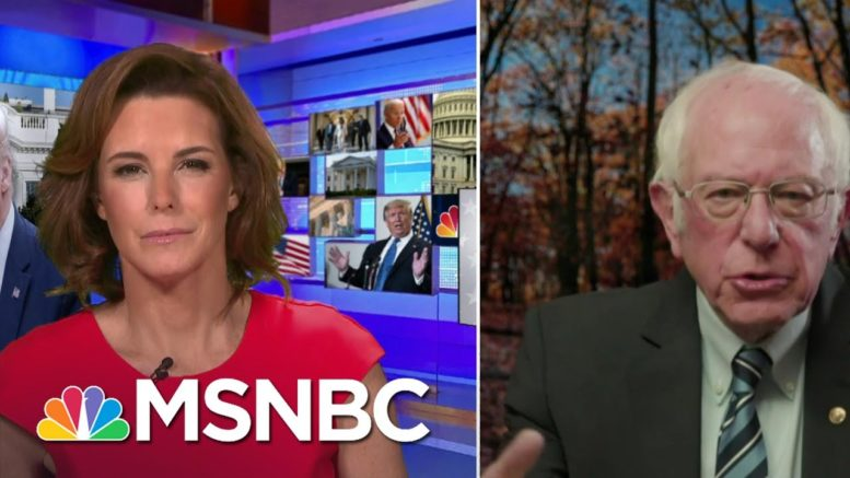 Sanders Calls Trump's Strategy To Gain His Supporters' Votes 'Desperate' | Stephanie Ruhle | MSNBC 1