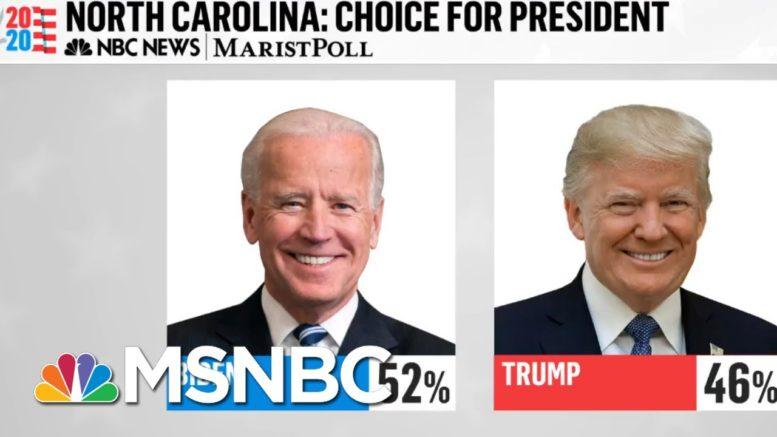 NBC News/Marist Poll: Joe Biden Leads Trump By Six Points In North Carolina | MTP Daily | MSNBC 1