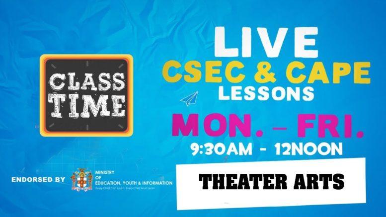 Theatre Arts 9:45AM-10:25AM   Educating a Nation - October 30 2020 1