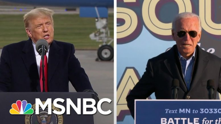 Trump, Biden On The Attack In Midwest As Virus Outbreaks Soar | The 11th Hour | MSNBC 1